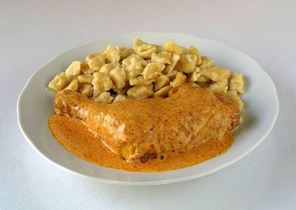 authentic chicken paprikash