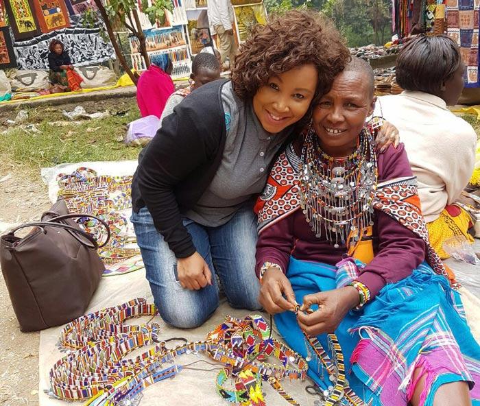Mabela and maasai lady Kenya
